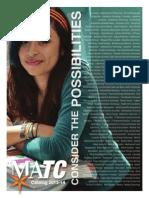 2013-2014 MATC Catalog