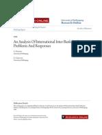 An Analysis of International Inter-Bank Settlement Problems and R