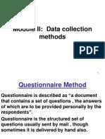Questionnaire Method