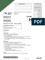 Chemistry Unit 1 Question Paper