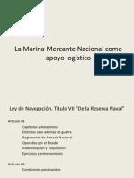 La Marina Mercante Nacional como apoyo logístico
