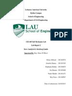Lab report soil mechanics