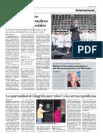Sarkozy lidera por  primera vez los sondeos  para las presidenciales
