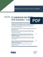 Cadernos Do IME - Serie Estatistica Vol 28