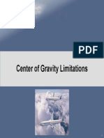 Center of Gravity Limitations