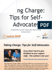 Self Advocates Becoming Empowered Webinar with Autism NOW September 10 2013