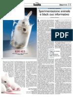 Sperimentazione Animale e Black Out Informativo