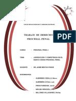 Jurisdiccion y Competencia en El Proceso Penal Peruano