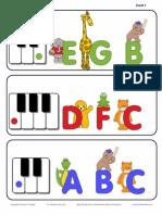 Preschool Keyboard Animal Flashcards