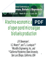 A Techno-economic Analysis of Open Pond Microalgae