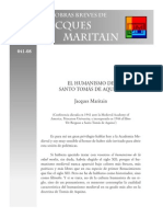 Maritain - El Humanismo en Tomas de Aquino