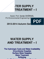 Water Supply and Treatment – I