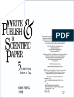 How to Write and Publish a Scientific Paper by Robert a. Day