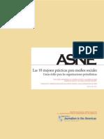 Las 10 mejores prácticas para medios sociales (ASNE, 2011)