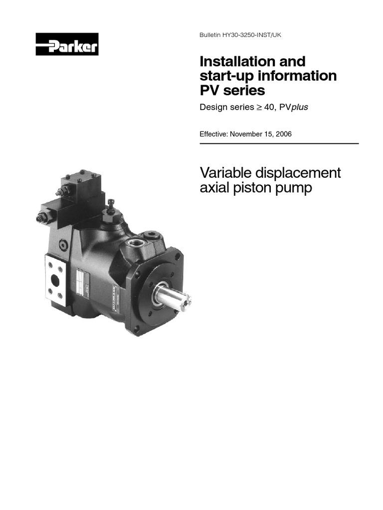 Parker Pv Series Pump Valve Hydraulic Wiring Diagram