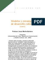 Curso - Modelos y estrategias de desarrollo cultural