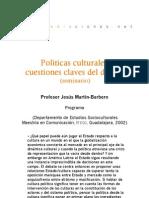 Seminario - Políticas culturales