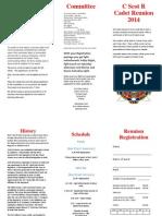 Cadet Reunion Brochure 2