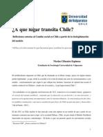 A que lugar transita Chile