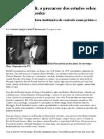 Rede Globo _ globo ciência - Michel Foucault, o precursor dos estudos sobre tecnologias de poder