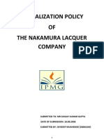 The Globalization Policy of the Nakamura Lacquer Company