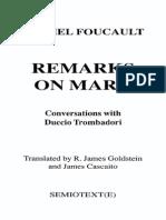 165853323 Foucault Remarks on Marx