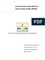 Macro Economic Overview of the Mid Term Review of Annual Policy, 2008-09