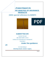 comparative analysis of different insurance products