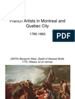 French Artists in Montreal and Quebec City