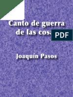 Canto de guerra de las cosas - Joaquín Pasos