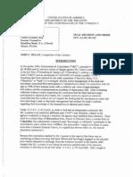 Decision & Order OCC vs Loumiet Re Hamilton Bank