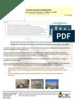 Estimacion de Inversion Quinquenio Al Tercer Trimestre 2012