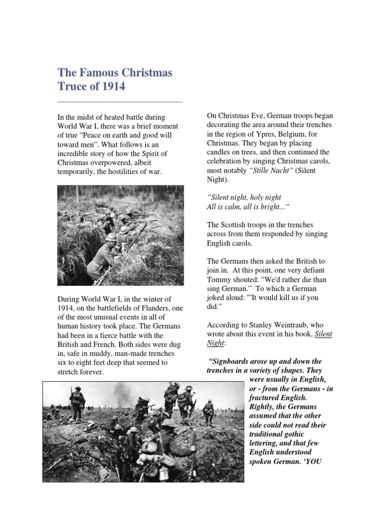 The Famous Christmas Truce of 1914 | Trench Warfare | Christmas