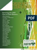 Silver Beaver Award 2009 Program Cover