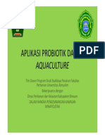 Aplikasi Probiotik Dalam Aquaculture
