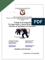 Supervisión y Control de los Servicios Privados de Seguridad  en El Salvador