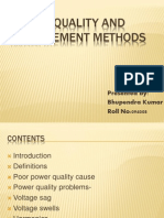 Power Quality and Improvement Methods