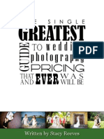 Pricing Guide for Wedding Photography