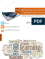 Enhancing Teaching and Learning in Blended Environments