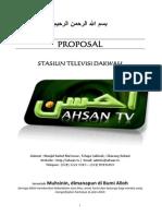 Proposal+Pembangunan+Ahsan+TV+ +Server,Pemancar+&+Operasional