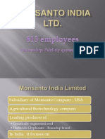 Monsanto India Ltd HR Practices