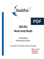 2010-2011 Nurses Survey Results