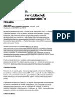 (Governo Juscelino Kubitschek (1956-1961) Anos Dourados e Bras355lia - Educa347343o - UOL Educa347343o)