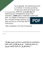 Coaching Definitions
