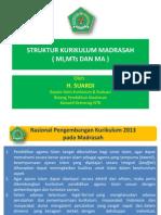 Struktur Kurikulum Madrasah