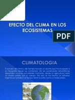 CLIMA ECOLOGIA