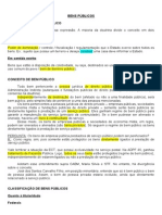 Administrativo - 11 - Bens públicos