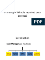 5.Planning – What is required on a project-f
