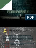 Fisika Dasar 1 (Pendahuluan)
