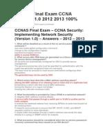 CCNAS Final Exam CCNA Security 1